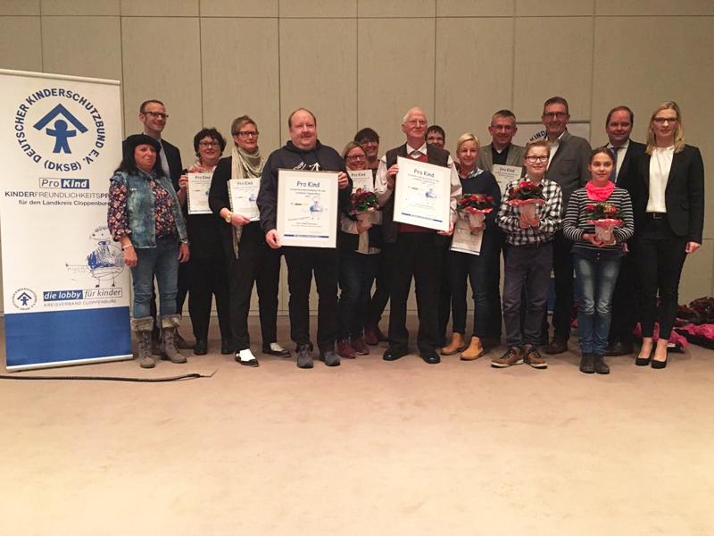 Gewinner des Kinderfreundlichkeitspreises 2017